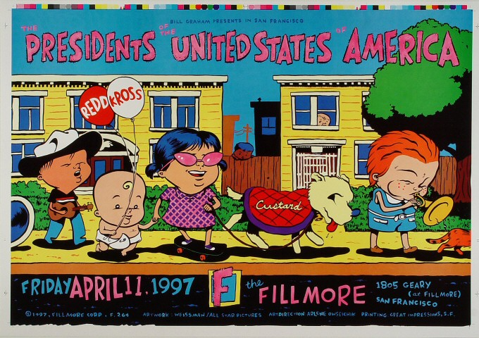 "Presidents of the United States of America Proof from Fillmore Auditorium on 11 Apr 97: 14"" x 20"""