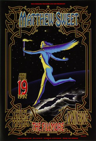 "Matthew Sweet Poster from Fillmore Auditorium on 19 Apr 97: 13"" x 19"""