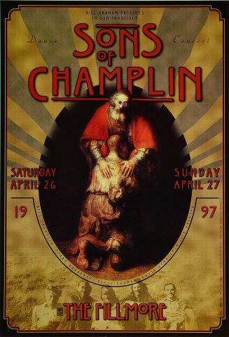 "The Sons of Champlin Poster from Fillmore Auditorium on 26 Apr 97: 13"" x 19"""
