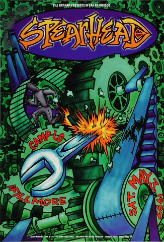 """Spearhead Poster from Fillmore Auditorium on 03 May 97: 13"""" x 19"""""""