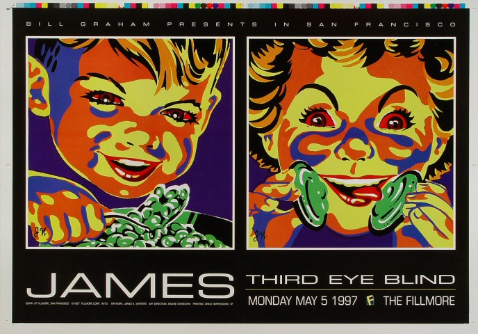 """James Proof from Fillmore Auditorium on 05 May 97: 14"""" x 20"""""""