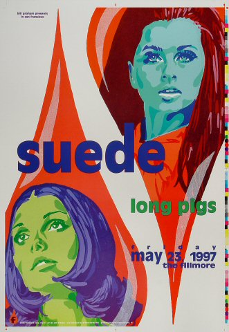 "Suede Proof from Fillmore Auditorium on 23 May 97: 14"" x 20"""