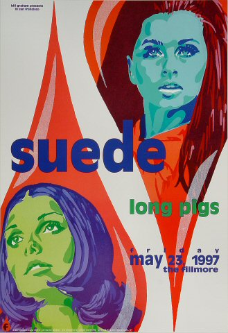 "Suede Poster from Fillmore Auditorium on 23 May 97: 13"" x 19"""