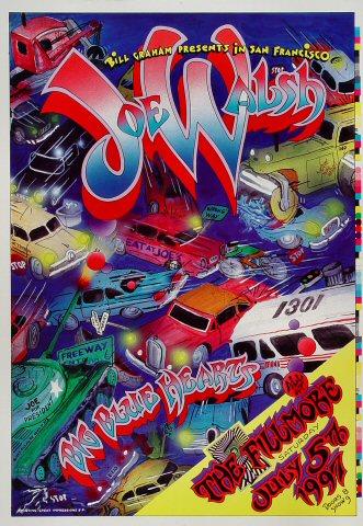 "Joe Walsh Proof from Fillmore Auditorium on 05 Jul 97: 14"" x 20"""