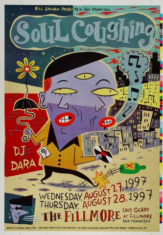 "Soul Coughing Proof from Fillmore Auditorium on 27 Aug 97: 14"" x 20"""