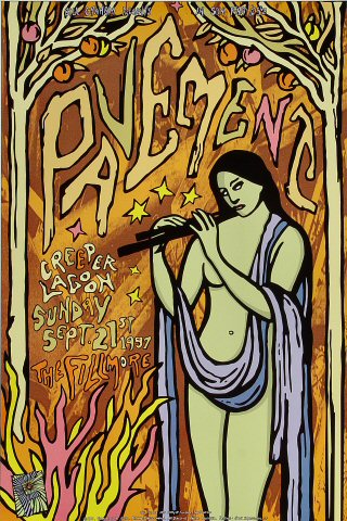 "Pavement Poster from Fillmore Auditorium on 21 Sep 97: 13"" x 19"""