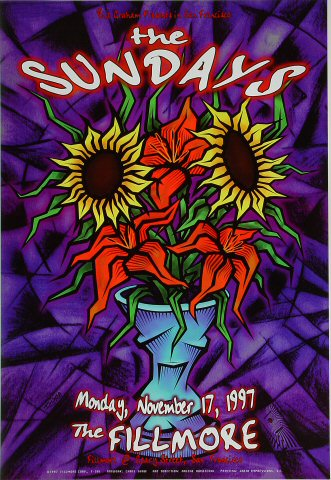 "The Sundays Poster from Fillmore Auditorium on 17 Nov 97: 13"" x 19"""