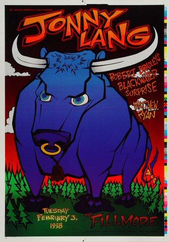 "Jonny Lang Proof from Fillmore Auditorium on 03 Feb 98: 14"" x 20"""