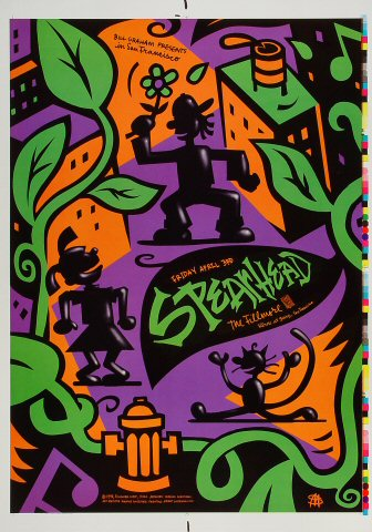 "Spearhead Proof from Fillmore Auditorium on 03 Apr 98: 14"" x 20"""