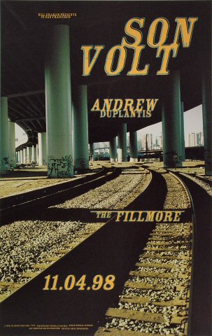 "Son Volt Poster from Fillmore Auditorium on 04 Nov 98: 12"" x 19"""