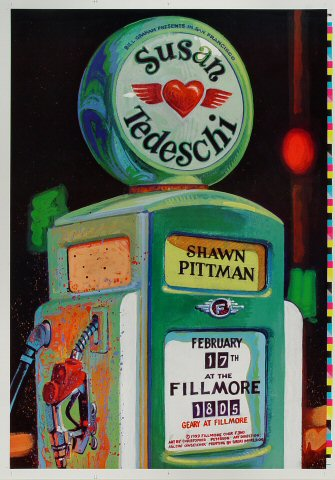 "Susan Tedeschi Proof from Fillmore Auditorium on 17 Feb 99: 14"" x 20"""
