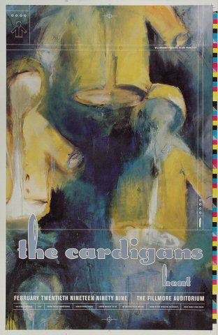 "The Cardigans Proof from Fillmore Auditorium on 20 Feb 99: 13"" x 20"""