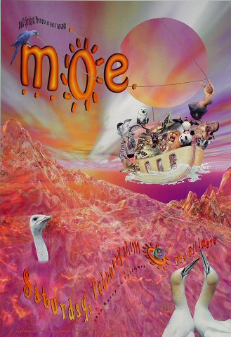 "moe. Poster from Fillmore Auditorium on 27 Feb 99: 13"" x 19"""
