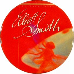 "Elliott Smith Retro Pin from Fillmore Auditorium on 01 Mar 99: 2 1/4"" x 2 1/4"" Pin"