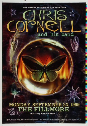 "Chris Cornell Proof from Fillmore Auditorium on 20 Sep 99: 14"" x 20"""