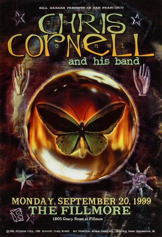 "Chris Cornell Poster from Fillmore Auditorium on 20 Sep 99: 13"" x 19"""