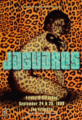 "Jaguares Poster from Fillmore Auditorium on 24 Sep 99: 13"" x 19"""