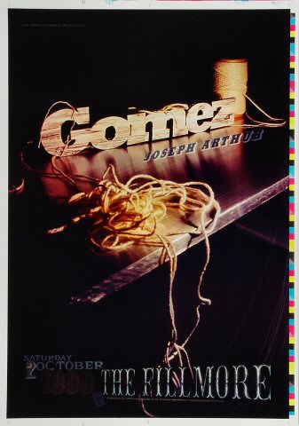 "Gomez Proof from Fillmore Auditorium on 02 Oct 99: 14"" x 20"""
