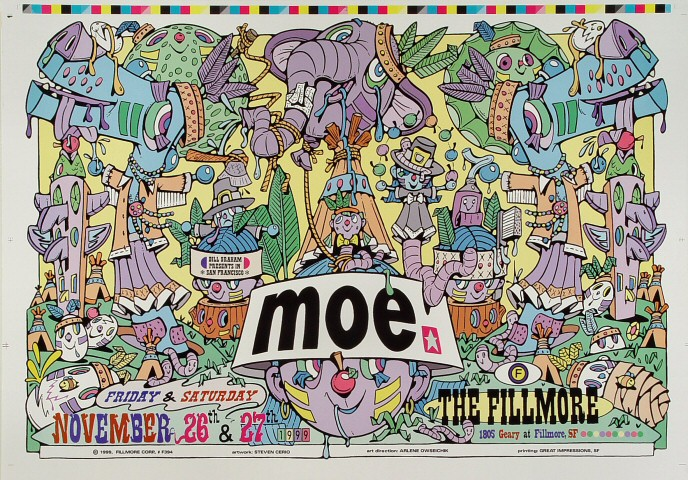 "moe. Proof from Fillmore Auditorium on 26 Nov 99: 14"" x 20"""