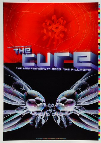 "The Cure Proof from Fillmore Auditorium on 17 Feb 00: 14"" x 20"""