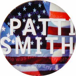 "Patti Smith Retro Pin from Fillmore Auditorium on 15 Apr 00: 2 1/4"" x 2 1/4"" Pin"