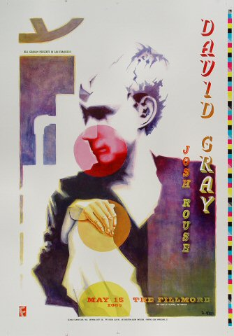"David Gray Proof from Fillmore Auditorium on 15 May 00: 14"" x 20"""