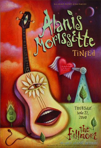 Alanis Morissette Poster from Fillmore Auditorium on 22 Jun 00: 13&quot; x 19&quot;