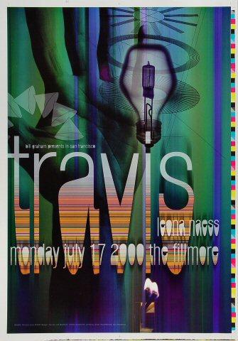 "Travis Proof from Fillmore Auditorium on 17 Jul 00: 14"" x 20"""