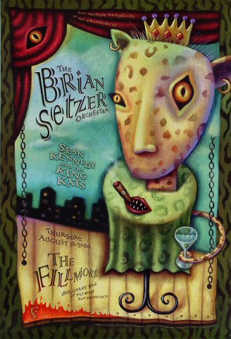 "Brian Setzer Orchestra Poster from Fillmore Auditorium on 10 Aug 00: 13"" x 19"""