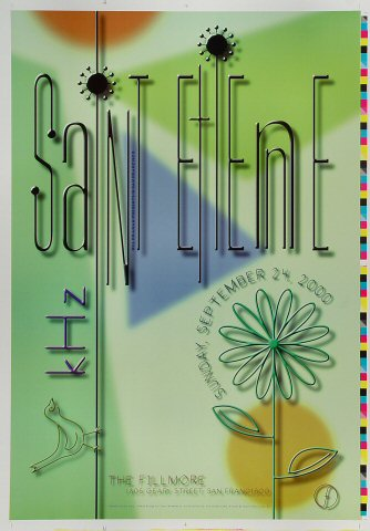 "Saint Etienne Proof from Fillmore Auditorium on 24 Sep 00: 14"" x 20"""