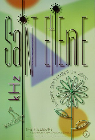 "Saint Etienne Poster from Fillmore Auditorium on 24 Sep 00: 13"" x 19"""