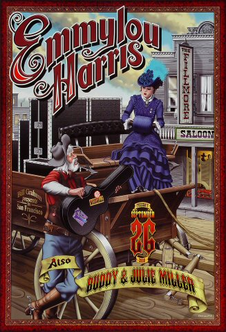 """Emmylou Harris Poster from Fillmore Auditorium on 26 Sep 00: 13"""" x 19"""""""