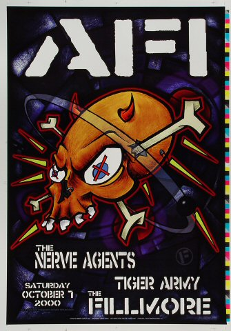 "A.F.I. Proof from Fillmore Auditorium on 07 Oct 00: 14"" x 20"""