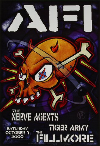 "A.F.I. Poster from Fillmore Auditorium on 07 Oct 00: 13"" x 19"""