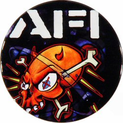 "A.F.I. Retro Pin from Fillmore Auditorium on 07 Oct 00: 2 1/4"" x 2 1/4"" Pin"