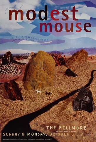 """Modest Mouse Poster from Fillmore Auditorium on 08 Oct 00: 13"""" x 19"""""""