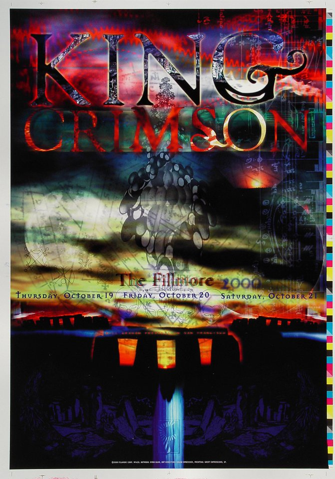 "King Crimson Proof from Fillmore Auditorium on 19 Oct 00: 14"" x 20"""