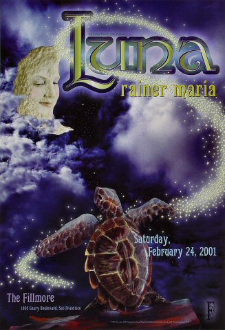 "Luna Poster from Fillmore Auditorium on 24 Feb 01: 13"" x 19"""