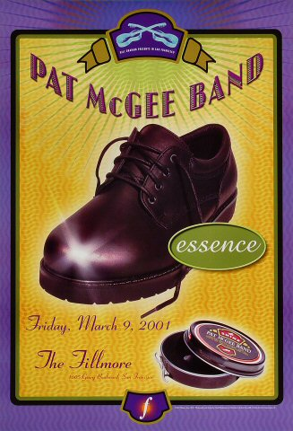 "Pat McGee Band Poster from Fillmore Auditorium on 09 Mar 01: 13"" x 19"""