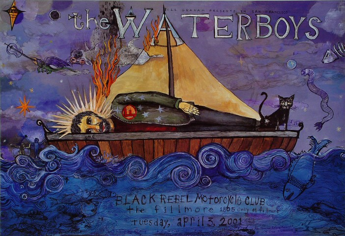 "The Waterboys Poster from Fillmore Auditorium on 03 Apr 01: 13"" x 19"""