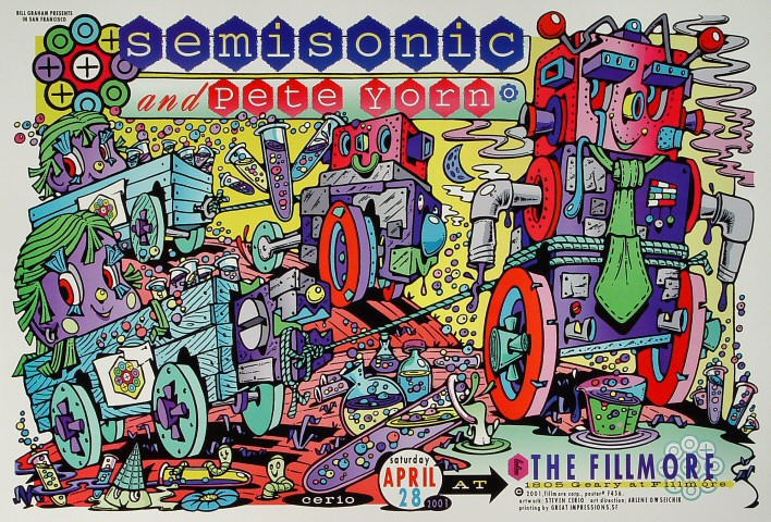 "Semisonic Poster from Fillmore Auditorium on 28 Apr 01: 13"" x 19"""
