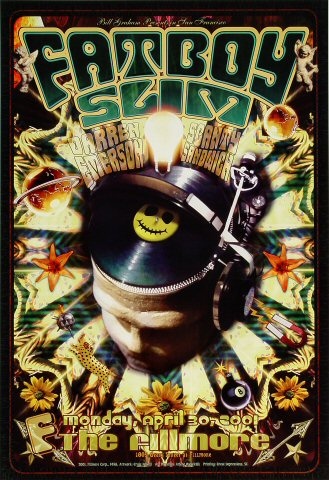"Fatboy Slim Poster from Fillmore Auditorium on 30 Apr 01: 13"" x 19"""