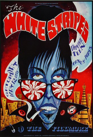 "The White Stripes Poster from Fillmore Auditorium on 12 May 01: 13"" x 19"""