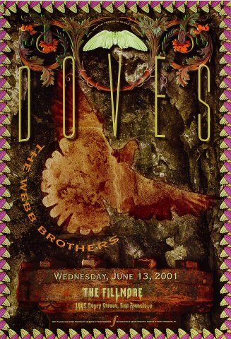 "Doves Poster from Fillmore Auditorium on 13 Jun 01: 13"" x 19"""