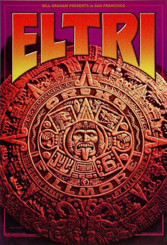 "El Tri Poster from Fillmore Auditorium on 06 Jul 01: 13"" x 19"""