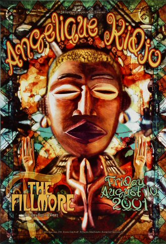 "Angelique Kidjo Poster from Fillmore Auditorium on 10 Aug 01: 13"" x 19"""