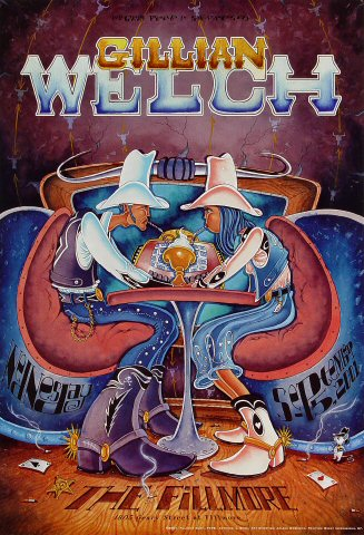 "Gillian Welch Poster from Fillmore Auditorium on 05 Sep 01: 13"" x 19"""