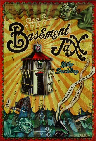 "Basement Jaxx Poster from Fillmore Auditorium on 03 Oct 01: 13"" x 19"""