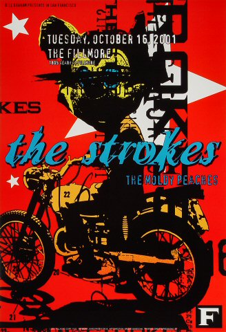 "The Strokes Poster from Fillmore Auditorium on 16 Oct 01: 13"" x 19"""