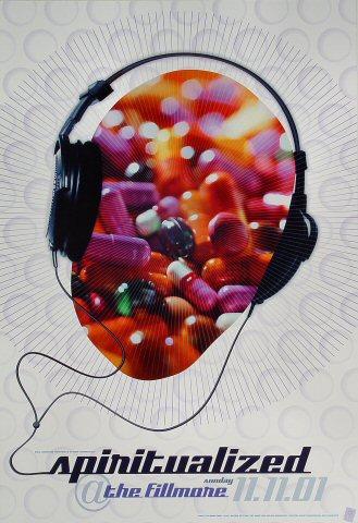 "Spiritualized Poster from Fillmore Auditorium on 11 Nov 01: 13"" x 19"""